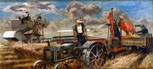 1939 Joe Jones (American artist, 1909-1963)  Harvest Scene 1939