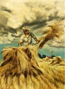 2 Joe Jones (American artist, 1909-1963) Raking Hay